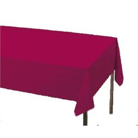 Burgundy Paper Tablecloth (Plastic lined)
