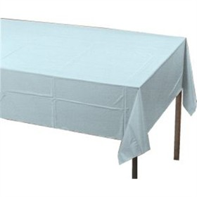Pastel Blue Paper Tablecloth (Plastic lined)
