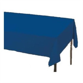 Navy  Paper Tablecloth (Plastic lined)