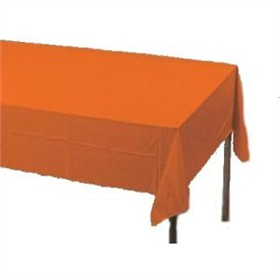 Orange Paper Tablecloth (Plastic lined)