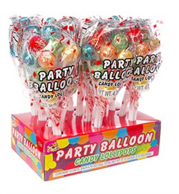 Party Balloon Lollipops 12 Count
