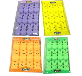Marshmallow Peep Bunnies 12ct - Choose Your Color