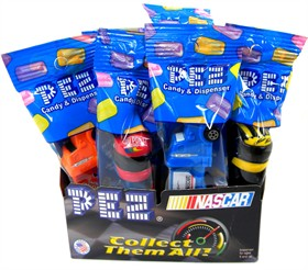 PEZ Candy With Dispenser 12ct - Nascar