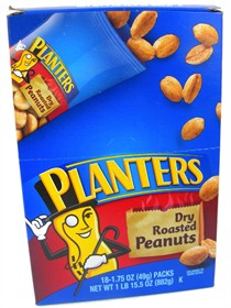 Planters Dry Roasted Peanuts 18ct