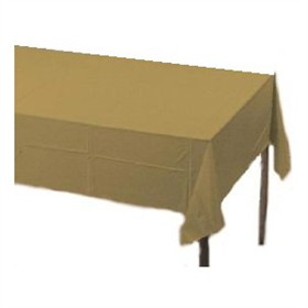 Gold Plastic Tablecloth