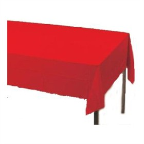 Red Plastic Tablecloth