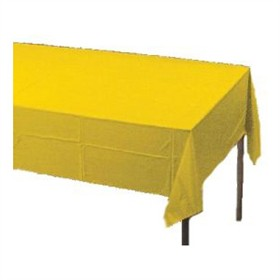 School Bus Yellow Plastic Tablecloth