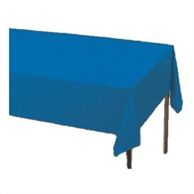 True Blue Plastic Tablecloth