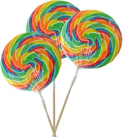 Rainbow Whirly Lollipop Jumbo Size