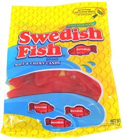 Gummy Red Swedish Fish 5oz Bag