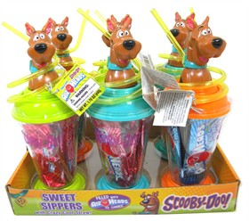 Scooby Doo Sipper Straw Cup With Airheads 6 Count