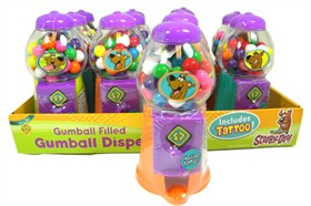 Scooby Doo Gumball Dispenser 12 Count