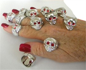 Skull Rings 48ct Bag (Plastic)