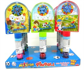 All Star Sports Pinball Bubble Gum Toys 12 Count 