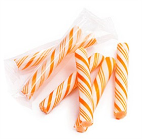 Sticklettes - Orange & White Petite Candy Sticks- 250 Count (Orange)