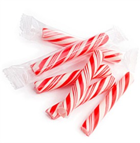 Sticklettes - Red & White Petite Candy Sticks- 250 Count (Peppermint)