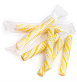 Sticklettes - Yellow & White Petite Candy Sticks- 250 Count (Lemon)