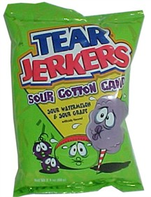 Tear Jerkers Sour  Cotton Candy 2.1oz Bag