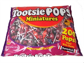 Tootsie Pop Miniature Lollipops 200 Count Bag