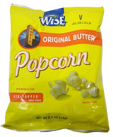 Wise White Cheddar Popcorn 1/2oz Bag