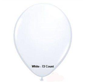 "White Latex Balloons 11"" 72 Count Bag"