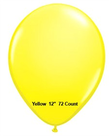 "Yellow Latex Balloons 12"" 72 Count"